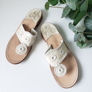 Jack Rogers Navajo stitched sandals flip flops